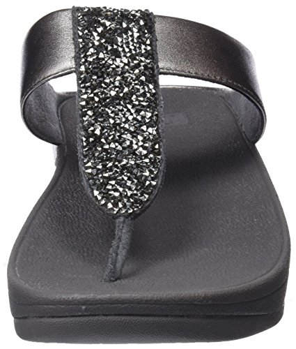 Toe Roxy Post Pewter Plateado Fitflop Chanclas para Sparklie 054 Mujer ZnfqxwB