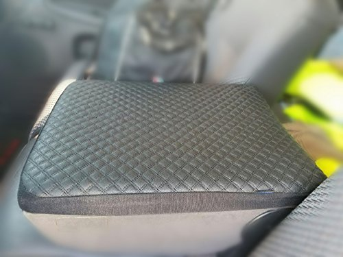 Dodge Ram Pickup 1993 - 2013 Leather Car Auto Center Armrest Console Box Lid Cover Protector Black