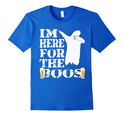 [Mens Dabbing For Boos T-Shirt Funny Halloween Ghost Costume Idea XL Royal Blue] (Play On Words Costume Ideas Of Halloween)