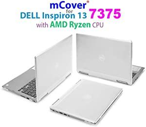 "mCover Hard Shell Case for 13.3"" Dell Inspiron 13 7375 (with AMD Ryzen CPU) 2-in-1 Convertible Laptop Computers (Dell I13-7375-AMD Clear)"
