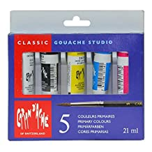 Caran D'ache Gouache 3 Primary Colors Plus Black & White, 10 ml (2003.305)