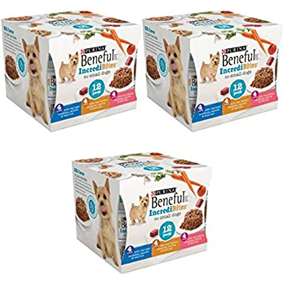 Purina Beneful IncrediBites Variety Pack Wet Dog Food, 3 Oz, Case of 12-3 packs