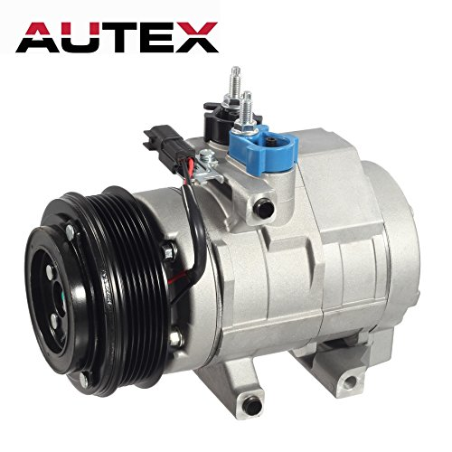 AUTEX AC Compressor & A/C Clutch Replacement for Ford Expedition 2007 2008 2009 2010 2011 2012 2013 2014/Ford F-150 2007 2008 2009 2010/Ford F-250 & F-350 2008 2009/Ford Lobo 2007 2008