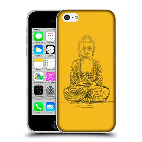 GoGoMobile Coque de Protection TPU Silicone Case pour // Q07690602 Bouddha 4 ambre // Apple iPhone 5C