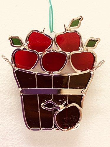 JGS Basket of Apples Stained Glass Suncatcher ()
