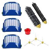 ECOMAID Filter & Side Brush & Bristle Brush & Flexible Beater Brush Replacment for Irobot Roomba 600 Serie 650 600 610 620 Vacuum Cleaner Accerroies 9 Packs