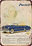 1949 Pontiac Chieftain Convertible Vintage Look Reproduction Metal Signs 12X16 Inches