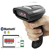 NETUM Bluetooth CCD Barcode Scanner Wireless Barcode Reader Handheld USB 1D Bar Code Imager for Mobile Payment Computer Screen Scan for POS Android iOS iMac Ipad System NT-1228BC