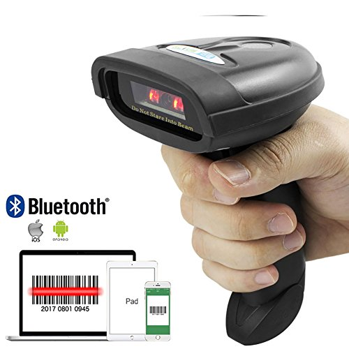 NETUM Bluetooth CCD Barcode Scanner Wireless Barcode Reader Handheld USB 1D Bar Code Imager for Mobile Payment Computer Screen Scan for POS Android iOS iMac Ipad System NT-1228BC by NETUM
