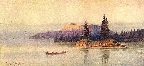 Canada  The Canadian Lake Region  Cariboo Island  Thunder Bay   1907   Old Print   Antique Print   Vintage Print   Canada Art Prints