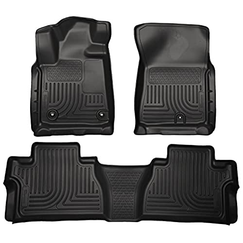 Husky Liners Front & 2nd Seat Floor Liners Fits 14-18 Tundra CrewMax Cab