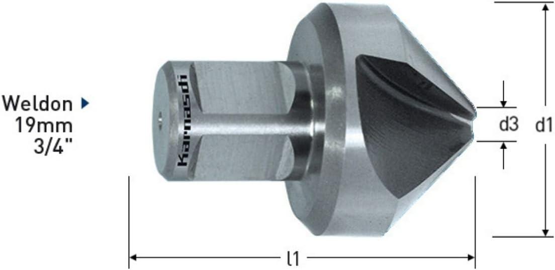 Kegelsenker Senker 90/° /Ø d=25mm HSS-XE Spezialstahl Weldonschaft