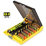 Torx Screwdriver Set, T4 T5 T6 T7 Torx Security T8 T9 T15 T20 Hex Nut Pentalobe Flathead Triwing Triangle Square Bit Tool Kit with Flexible Shaft Extension for Precise Repair Maintenance (45 in 1)