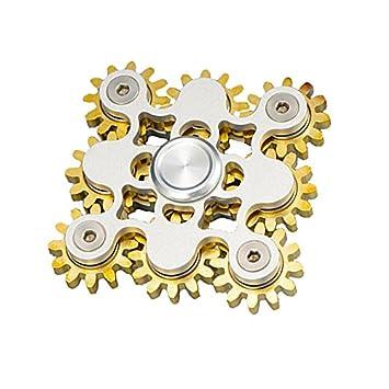 9 Nine Gear Fidget Spinner Teeth Linkage Toy Metal BRASS COPPER EDC Gadgets