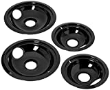 Stanco 4 Pack Ge/Hotpoint Electric Range Porcelain Black Reflector Bowls With Locking Notch