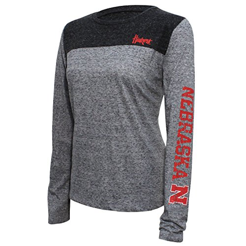 Nebraska Cornhuskers Ncaa Tee (NCAA Nebraska Cornhuskers Women's Campus Specialties Long sleeve Tee, XX-Large, Heather/Dark Gray)