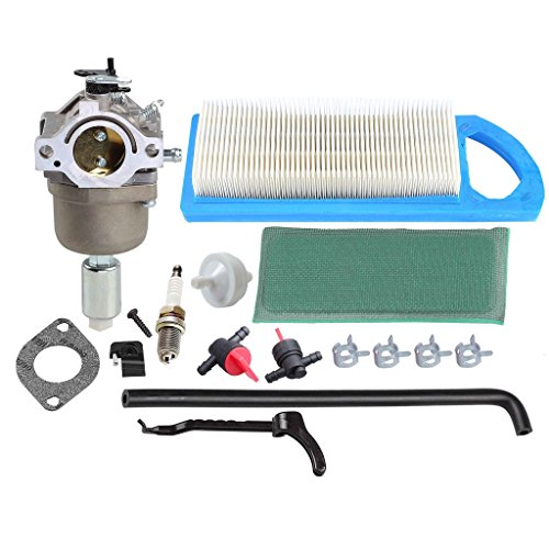 HIPA 794572 Carburetor with Air Filter Tune-up Kit for Briggs & Stratton 791858 791888 792358 793224 697190 697141 698445