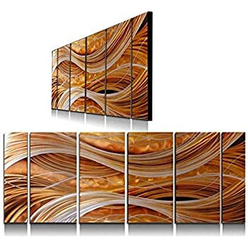 Yihui Arts Handmade Abstract Group Contemporary Metal Wall Art with Soft Color (24 x 65 in)