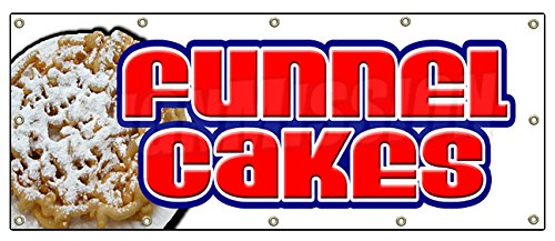 Funnel Cakes Banner Sign Cake Concessions Sign Signs