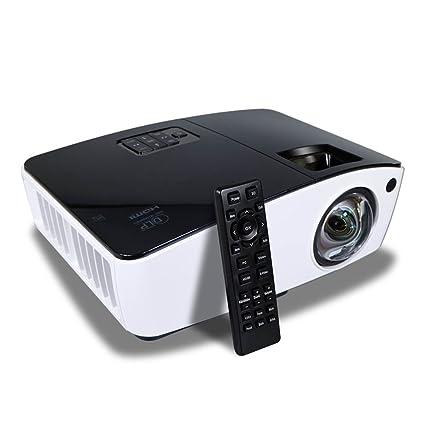 Proyector Tiro Corto, NIERBO 3D 1080p Proyector 4000 ANSI (80 Pulgadas a 1m , Proyector para Cine en casa para Exterior