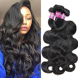 YAEONS Hair 8A Wholesale Malaysian Virgin Hair Body Wave 3 Bundles 14 16 18 inch Unprocessed Virgin Human Hair Weave Weft Natural Black #1B Color