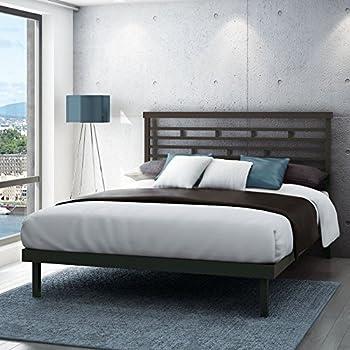 Amazon Com Amisco Highway Metal Platform Bed Queen Size