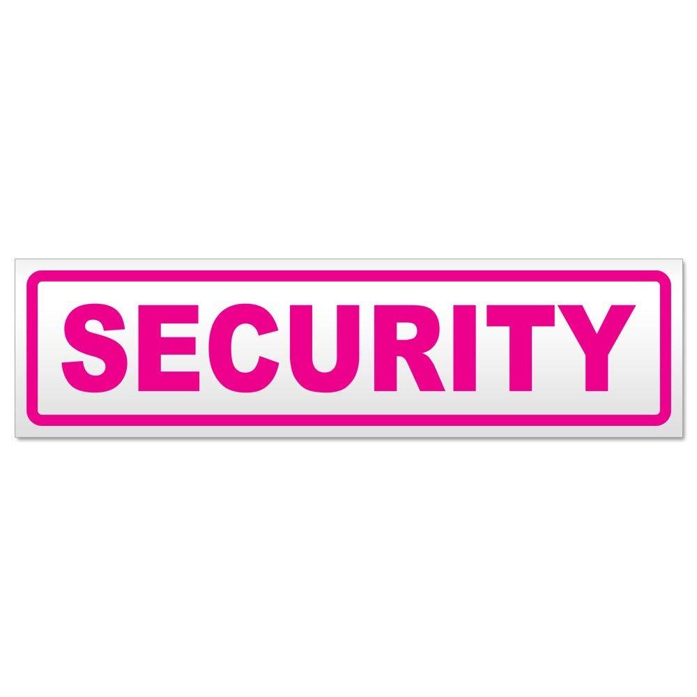 Kiwistar Security Magnetschild Schild magnetisch