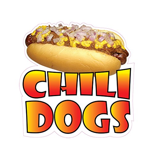 Chili Dogs Concession Restaurant Food Truck Die-Cut Vinyl Sticker 14 inches (Best Chili Restaurants In Usa)