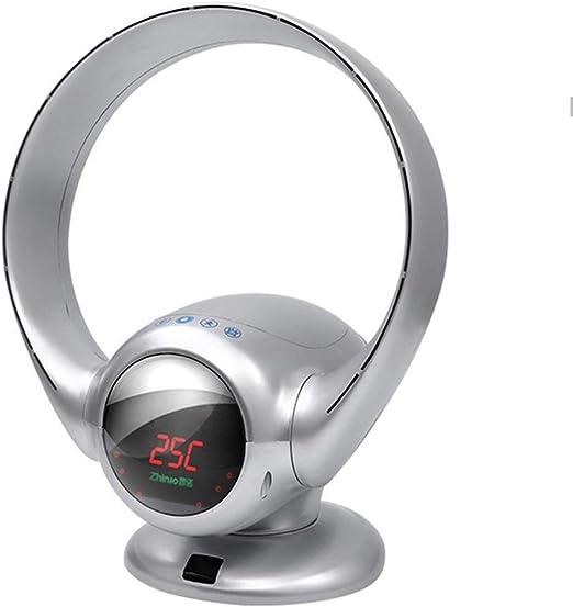 A-Nice Ventilador eléctrico Inteligente de 8 velocidades, sin Ruido, con ventilación, sin aspas, con Pantalla Digital en Color (41 * 31 * 30 cm) (Color : La Plata ...
