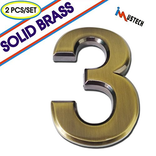 3 brass numbers - 5