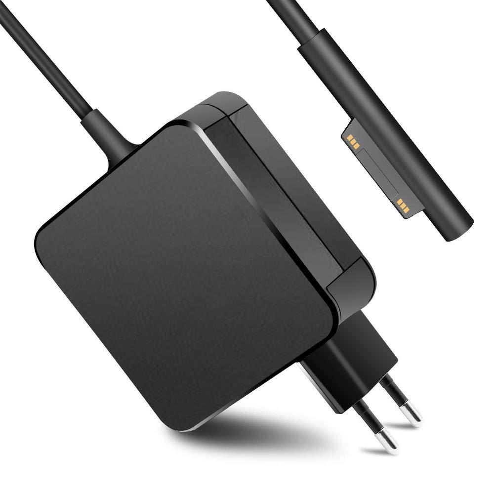 Cargador Portatil 15V 4A Electrónica Adaptador de Corriente para Microsoft Surface Pro 6, Surface Pro 3 Pro 4 Pro 5 Cargador Tableta PC Compatible con ...