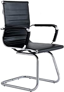 CoVibrant Modern Office Chair Without Wheels Waiting Room Chairs with Arms for Reception Desk Conference Area