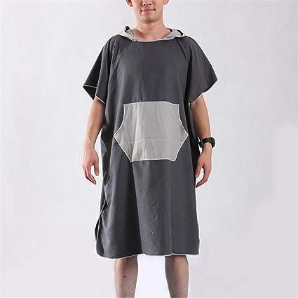 Cap bata de baño albornoz Albornoz para mujer y para hombre con capucha, capa de