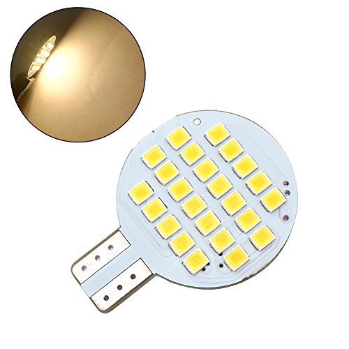 GRV T10 LED Bulb 921 194 24-2835 SMD Super Bright Lighting Lamp AC/DC 12V -24V for Car RV Boat Lights 2nd Generation (Latest Version) Warm White Pack of 10 by GRV