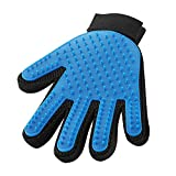 #4: Pet Hair Remover Glove - Magic Pet Grooming Glove - Pet Glove Hair Removal - for Dogs Cats Horses with Long & Short Fur - Efficient De-Shedding Mitt Brush - Gentle Massage Tool - 1 Pack (right-hand)