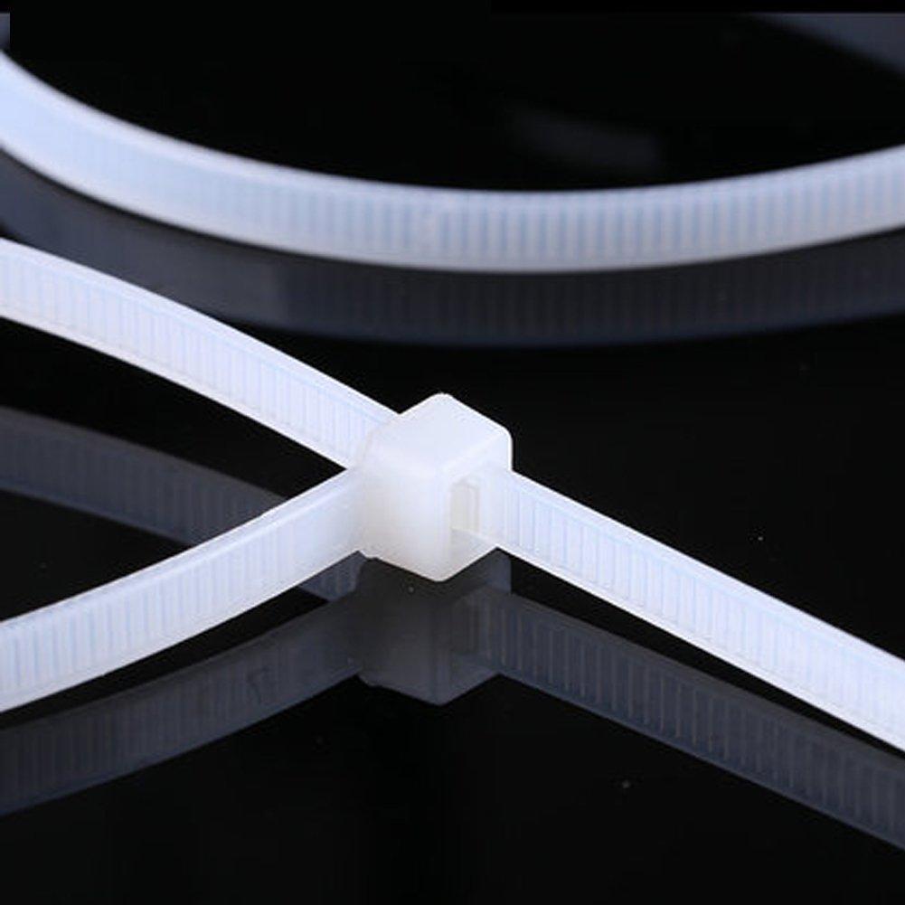 White Nylon Cable Zip Ties, 600 Pieces Adjustable Nylon Cable Zip Ties by OEXEO (Image #3)