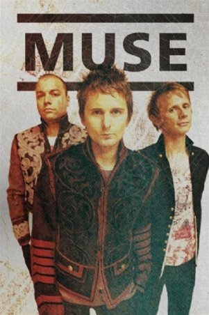 Muse Group Shot Electronic Rock Music Poster 24 x 36 inches