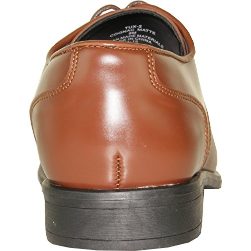 Vangelo Tux-2 Oxford Formele Smoking Schoen Effen Puntige Vierkante Neus Cognac Mat