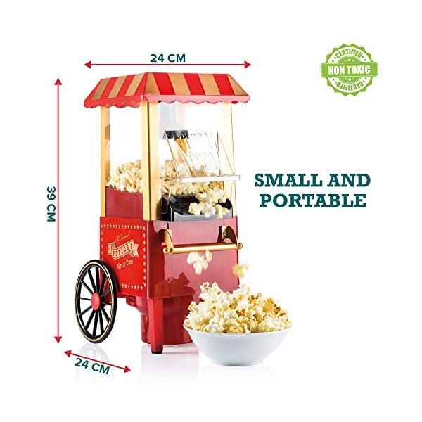 Gadgy Popcorn Machine - Retro Macchina Pop Corn Compatta, Aria Calda Senza Olio Grasso 4