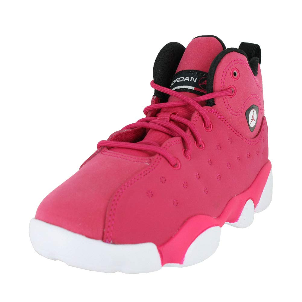 Jordan Kids Jumpman Team II PS Rush Pink Black Dark Smoke Gry Size 13.5