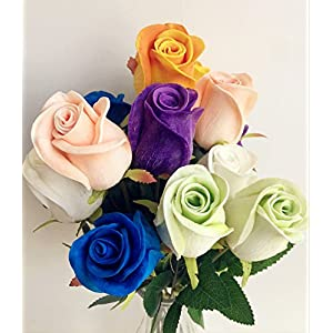 jiumengya 10pcs Real Touch Rose Simulated Fake Latex Roses 43cm for Wedding Party Artificial Decorative Flowers 60