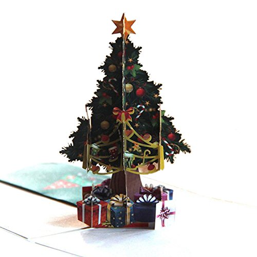 (Meijunter 3D Christmas Cards Pop Up Greeting Holiday Cards Gifts for Xmas/New Year/Thanksgiving #P-22)