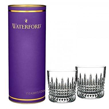 Waterford Crystal Lismore Giftology Diamond Tumbler Pair