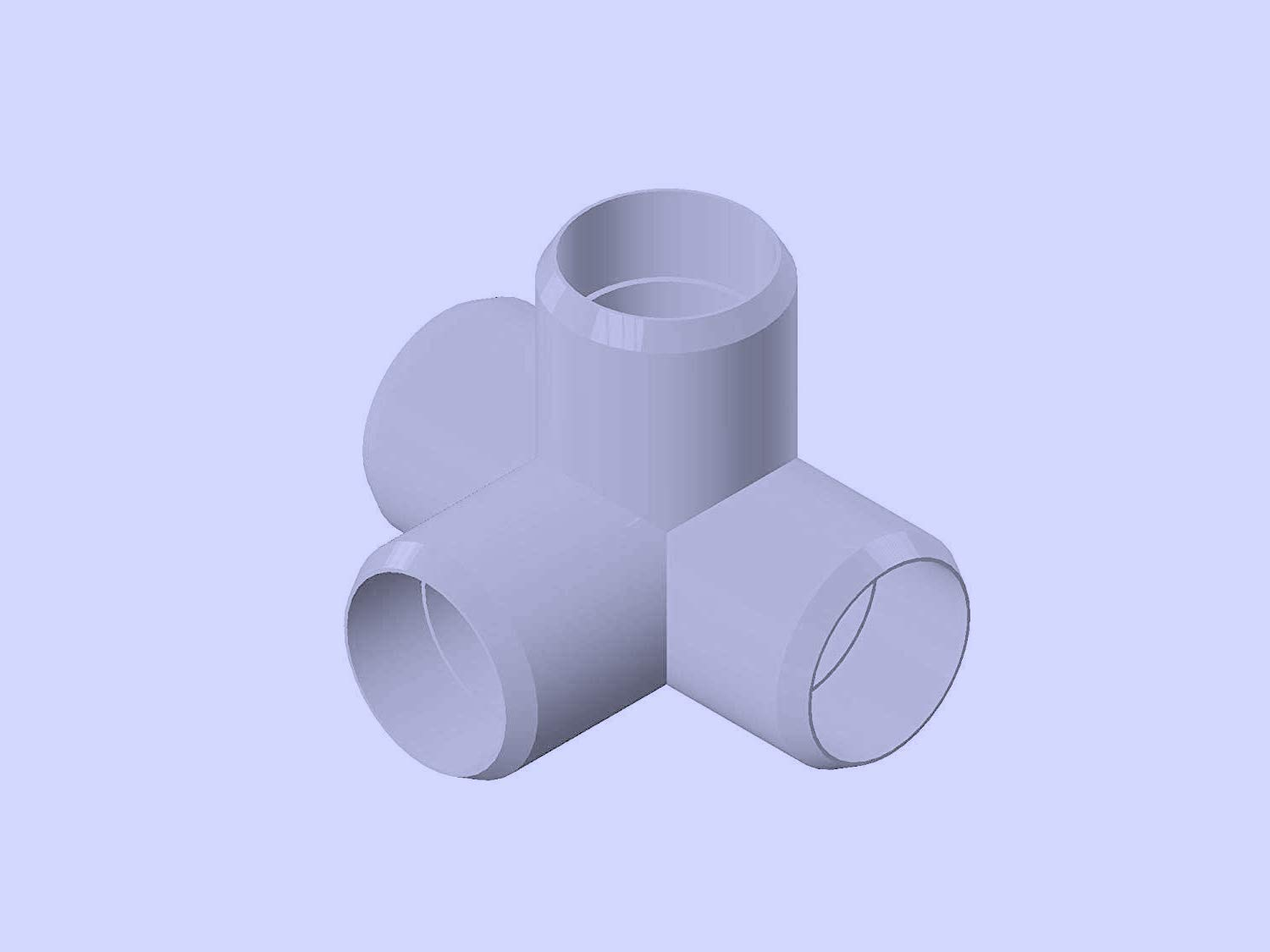 Sustainable Village PVC Pipe Fittings for Building Furniture and Cool Structures 1 Inch, 3-Way Elbow, 24