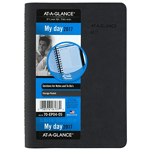 - AT-A-GLANCE Daily Appointment Book / Planner 2017, The Action Planner, 5-1/8 x 8