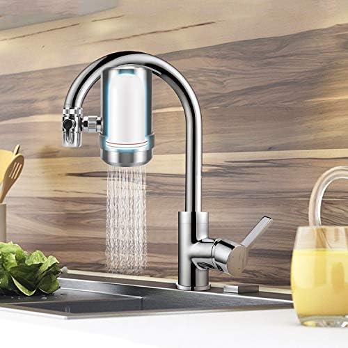 YJHome Elemento filtrante de cerámica Reutilizable para el purificador del Agua del Grifo, Filtro Cerámico Filtro purificador de Agua de Grifo, Grifo De Cocina Caliente Y Fría (Paquete de Tres): Amazon.es: Hogar