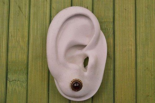 Boucles d'oreilles liaton avec Garnet Ø 9 mm