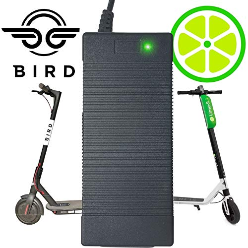 Read About Bird Scooter Charger 1-Pack | Lime, Lime-S, Skip, Spin, Mijia M365, Segway Ninebot Es4, E...