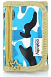 Alababy Camo Canvas Trifold Wallet Blueocean Camouflage Blue Wallet