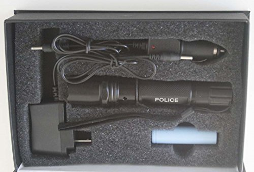 Tactical POLICE Flashlight - Waterproof, Shockproof, Aluminum Alloy LUxEON 3 Watt LED bulb